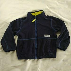 Carter's Boys 3T Zip up Fleece Sweater Dark Blue